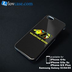 Valentino Rossi 46 Carbon Phone Case | Apple iPhone 4/4s 5/5s 5c 6 6 Plus Samsung Galaxy S3 S4 S5 S6 S6 EDGE Hard Case