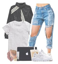 """""""Untitled- cause I can"""" by s0-childish ❤ liked on Polyvore featuring Y-3, H&M, Ray-Ban, Lime Crime and Bobbi Brown Cosmetics"""