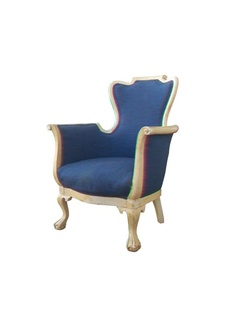 fabulous lines ball & claw foot bergere chair