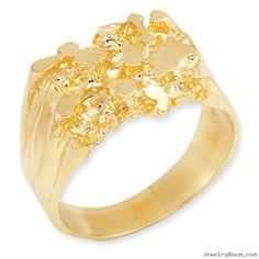Gold Rings for Men | 14k Men's Nugget Ring in Rings