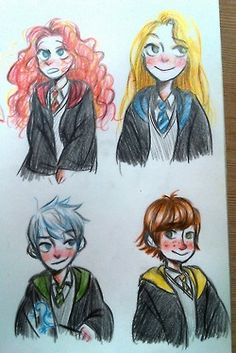 Big four in Hogwarts