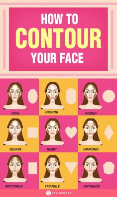 Contouring the face with a blusher and a bronzer gives you a chiselled face and on the other hand can blunt your sharp features. Check out these simple tips and tutorials on how to contour your face. Contour Makeup, Contouring And Highlighting, Skin Makeup, Makeup Brushes, Beauty Makeup, Beauty Tips, Beauty Hacks, Face Beauty, Makeup Ideas