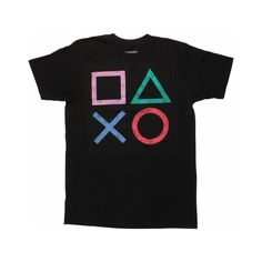 PlayStation Vintage Icons T-Shirt ($20) ❤ liked on Polyvore featuring tops, t-shirts, vintage tees, vintage tops et vintage t shirts