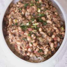 New Year's Black-Eyed Peas Recipe- Saveur.com (from Eula Mae's Cajun Cookbook).
