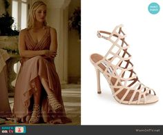 Steve Madden Slithur Sandal in Blush worn by Caroline Forbes on The Vampire Diaries Tv Show Outfits, Fandom Outfits, Hot Outfits, Cute Casual Outfits, Caroline Forbes, Fashion Tv, Fashion Outfits, Nina Dobrev Style, Monique Lhuillier Bridesmaids