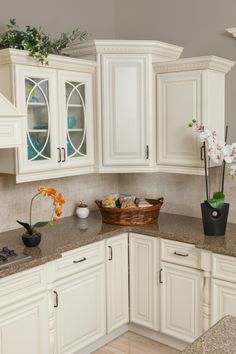 Painted Linen #Kitchen Cabinets