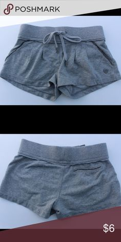 Juicy Couture grey sweat shorts size P Short drawstring shorts with silver beading pocket detail Juicy Couture Shorts
