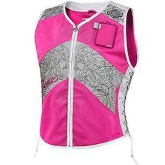 pink reflective visibility vest #bike #safety #reflective