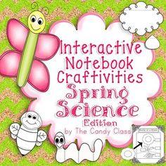 Interactive Notebook Craftivities Spring Science Edition- Includes 8 supplemental interactive notebook craftivities!