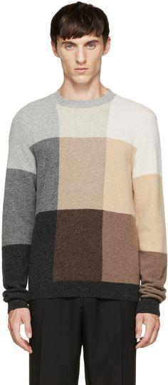 Paul Smith Multicolor Check Knit Sweater