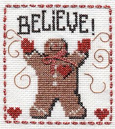 Believe Gingerbread Man