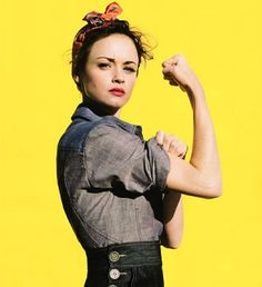 Alexis Bledel as the iconic Rosie the Riveter! A timeless reminder to stay strong, determined, and have our hearts full of purpose always.