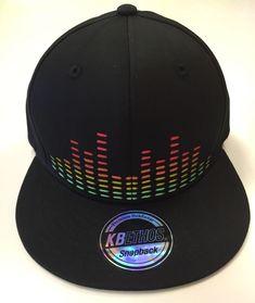 Black EQUALIZER Snap Back Hat, Disco Biscuits, BASSNECTAR, GriZ, EDM ART  | eBay