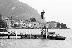 Hotel Baia d'Oro, Gargnano, Lake Garda, Italy Garda Italy, Lake Garda, Explore, Black And White, Photos, Gold, Patio, Black White, Pictures