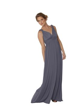 INFINITY ROSE: Available in charcoal (sizes 0-2, 4-6, 8-10, 12-14, 16-18), eggplant (size 8-10) style your bridesmaids to suit their individual body shape! the versatile Infinity Rose multi-way wrap dress allows you to create your own top by styling the bodice straps. the Infinity designs have an additional back piece allowing you to wear a bra. great for those goddesses who prefer a little more support. a great option for pregnant goddesses with baby bumps