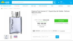 [Submarino] Essence Pure Homme S. T. Dupont Eau De Toilette - Perfume Masculino 50ml - de R$ 203,99 por R$ 169,99 (20% de desconto)