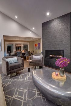 Sacramento Chic Entertainer - Contemporary - Living Room - Sacramento - by Nar Design Group Living Room Grey, Living Room Modern, Living Room Furniture, Living Room Decor, Living Rooms, Cottage Style Bathrooms, Loft, Decoration, Interior Design