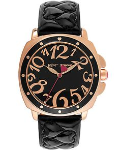 QUILTED HEART BAND WATCH