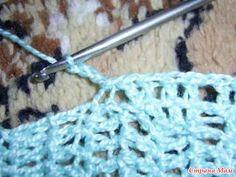 Вязание рукава от проймы крючком