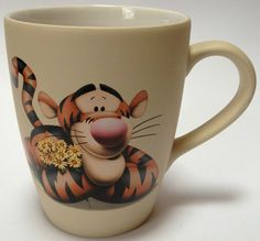 Disney Tigger Holding Daisies Large Coffee Mug Cup Spring Winnie The Pooh Floral For Sale on eBay