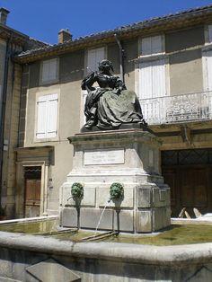 Grignan Fountain representing Mme de Sévigné