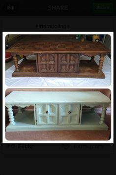 DIY furniture makeover for under $30, what a great idea for all that old 70's furniture