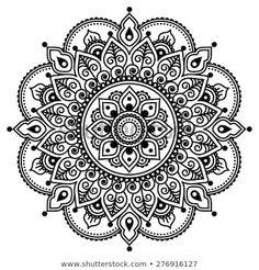 Stock Photo Mehndi, Indian Henna Tattoo Muster oder Hintergrund Standard-Bild – 39930063 The post Foto auf Lager appeared first on Frisuren Tips - Tattoos And Body Art Mandala Design, Mandala Art, Mandalas Drawing, Flower Mandala, Mandala Pattern, Zentangles, Henna Mandala, Indian Mandala, Henna Tattoo Muster