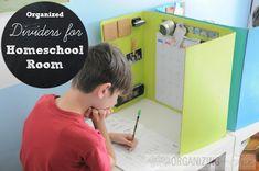 Organized Dividers for Homeschool Room | OrganizingMadeFun.com