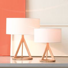 Jacob Small Oak Table Lamp