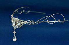Silver circlet,  Victorian Headpiece Tiara, Renaissance Medieval Gothic Headdress, Elven Elvish Elvin LOTR  Arwen Galadriel crown