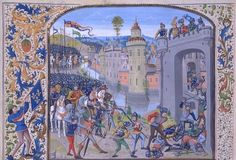 Chronicles of Jean Froissart - Taking Caen in 1346