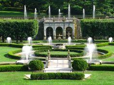 LONGWOOD GARDENS, PA  Italian Garden