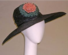 Picture hat to Jeanne Lanvin (French, 1867–1946) Date: ca. 1922