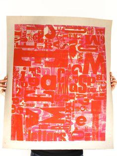 """horror vacui""   letterpress poster by Cabaret Typographie http://cabarettypographie.tumblr.com/ letterpress, poster, type, typography, letters, wood type"