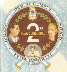 Juan y Eva Peron - Emblema