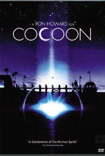 Cocoon (1985)  Feel good movie!  Wonderful cast.  Wilford Brimley, Jessica Tandy, Hume Cronyn, Don Ameche