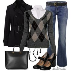 I would prefer different jeans, but I like the rest of the outfit. Fall / Winter Women's Fashion Trends