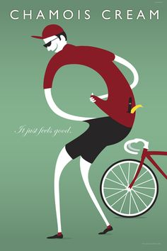BicycleGifts.com - Chamois Cream Poster, $34.00 (http://www.bicyclegifts.com/chamois-cream-poster/)