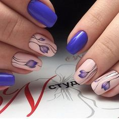 The Spring Sprouts. Get ready to enjoy your spring season while wearing these amazing nails on your denim days. The blue and white coated nails would simply enhance your appearance whether you are on work or enjoying beach.