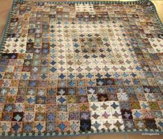 DSCF2368, why does this so cool blanket that looks like a quilt have to be tiny granny granny squares?  Sooo much work