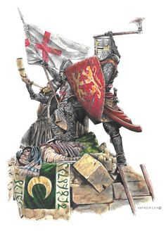 King Richard the Lionheart on Crusade Medieval Knight, Medieval Armor, Crusader Knight, Christian Warrior, High Middle Ages, Warrior King, Plantagenet, Inca, Chivalry