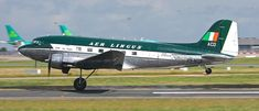 Aer Lingus unveil Douglas painted in Colours Civil Aviation, Aviation Art, Douglas Dc3, Douglas Aircraft, Dublin Airport, International Airlines, Passenger Aircraft, Ww2 Planes, Commercial Aircraft