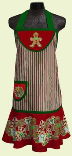 This gingerbread apron is perfect for holiday baking!