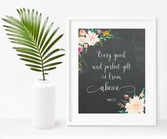 Nursery Bible Verses, Every Good And Perfect Gift, James 1 17, Bible Quote Print, Scripture Printable, Baby Shower Gift, Instant Download Baby Bible Quotes, Nursery Bible Verses, James 1, Quote Prints, Poster Prints, Psalms, Original Artwork, Digital Prints, Baby Shower Gifts