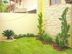 como-fazer-um-jardim-simples-barato Dream Garden, Home And Garden, Nature Decor, Small Gardens, Interior Design Living Room, Garden Design, Backyard, Outdoor Structures, Landscape