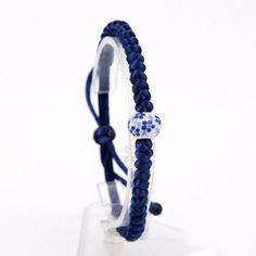 Floral Porcelain Bead Braided Rope Bracelet [4 Variations]