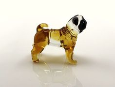 Art Blown Glass Figurine of the Shar Pei dog