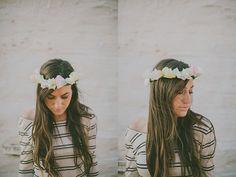 Coffee Filter Floral Crown DIY
