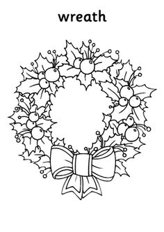 Floral Decorative Christmas Wreaths Coloring Pages : Coloring Sun Christmas Coloring Sheets, Printable Christmas Coloring Pages, Christmas Pictures To Color, Christmas Colors, Noel Christmas, Christmas Wreaths, Christmas Crafts, Xmas, Christmas Drawing