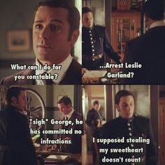 The Garlands simply suck. They took Murdoch's girl and George's girl Tv Show Quotes, Book Quotes, Tv Funny, Hilarious, Jonny Harris, Murdock Mysteries, Detective Sherlock Holmes, Mystery Show, Funny Pictures With Captions